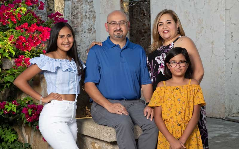 Albert Banda y familia